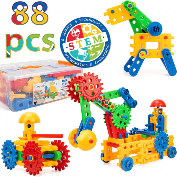 cossy 4 1 600x600 - MERCY STEM Learning | Original 110 Piece Educational Construction Engineering Building Blocks Set for 3,4,5,6 Year Old Boys & Girls | Best Kids Toy | Creative Games & Fun Activities
