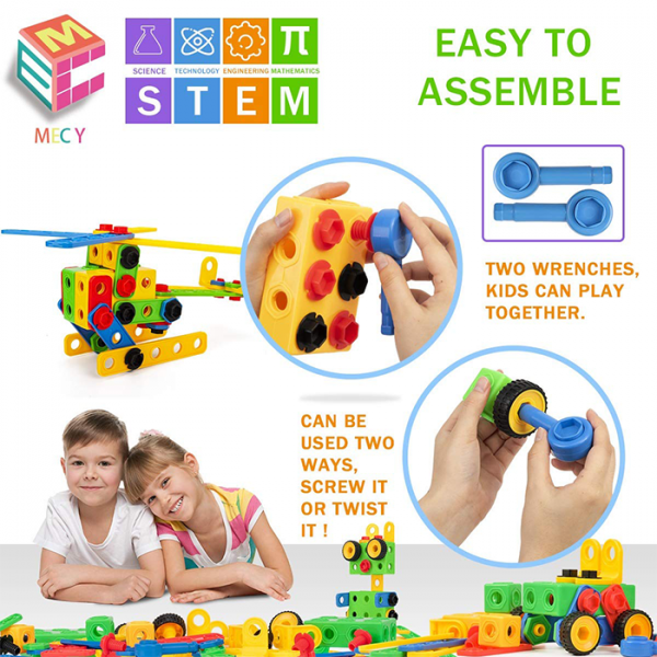 mecy 1 600x600 - MERCY STEM Learning | Original 110 Piece Educational Construction Engineering Building Blocks Set for 3,4,5,6 Year Old Boys & Girls | Best Kids Toy | Creative Games & Fun Activities