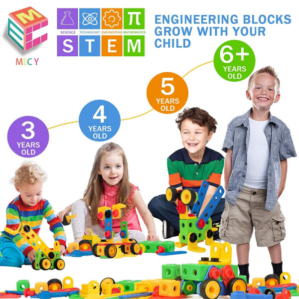 mecy 2 600x600 - MERCY STEM Learning | Original 110 Piece Educational Construction Engineering Building Blocks Set for 3,4,5,6 Year Old Boys & Girls | Best Kids Toy | Creative Games & Fun Activities