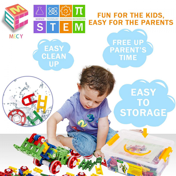 mecy 205 600x600 - MERCY STEM Learning | Original 110 Piece Educational Construction Engineering Building Blocks Set for 3,4,5,6 Year Old Boys & Girls | Best Kids Toy | Creative Games & Fun Activities