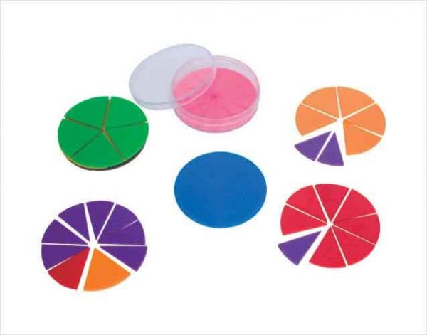 1 600x471 - 6 Fraction Circles (51 pieces)