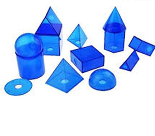 2 - Blue transparent Geometrical feature in 12 shapes Math teaching resources