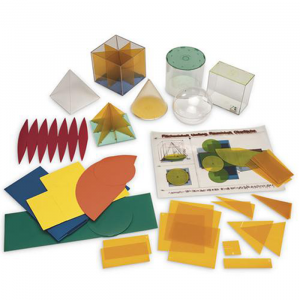 22 300x300 - Geometrical Shape Set with Nets 130 pieces learning & education