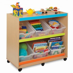 Bubblegum Angled Tray Unit With 6 Deep Trays 300x300 - Smarty Book rack