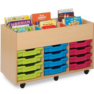 Bubblegum Kinderbox with 12 Shallow Trays 300x300 - Bubblegum Library Book Trolley