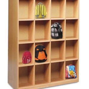 Cloakroom Bag Storage Unit 300x300 - Circular Wooden Nursery Tables