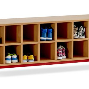 School Cloakroom Bench With Storage Compartments 300x300 - School Coat Hooks – Wall Mounted
