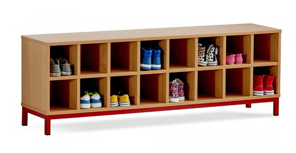School Cloakroom Bench With Storage Compartments 600x311 - School Cloakroom Bench With Storage Compartments