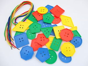 s l300 - Button shapes early years with thread