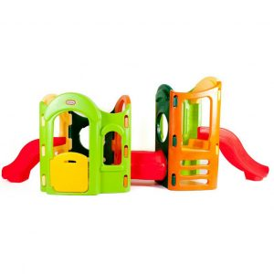 8 in 1 play ground natural 300x300 - Twin Slide Tunnel Climber