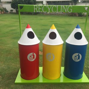 IMG 3304 300x300 - Pencil Recycling Bin - 70 Litre (set of 3)with stand
