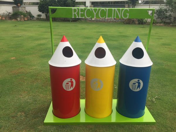 IMG 3304 600x450 - Pencil Recycling Bin - 70 Litre (set of 3)with stand