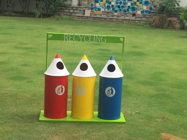 IMG 3306 600x450 - Pencil Recycling Bin - 70 Litre (set of 3)with stand