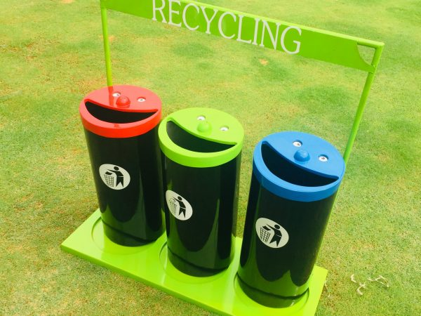 unnamed 600x450 - Novelty Smiley Face Recycling Bins(set of 3)with stand