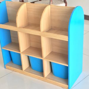 33c0ba0a 7477 4207 9e9d 06da88136093 300x300 - Bubblegum Book shelf with 6 deep storage tubs
