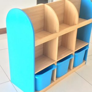 b8734e33 3c31 4836 ae2e 674df9034a5c 300x300 - Bubblegum Book shelf with 6 deep storage tubs