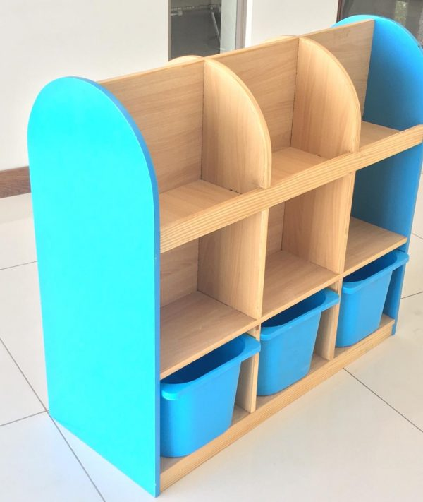 b8734e33 3c31 4836 ae2e 674df9034a5c 600x711 - Bubblegum Book shelf with 6 deep storage tubs