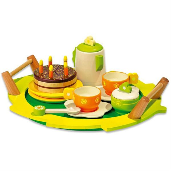 1 30144510 1 600x600 - Children Italian tea set wooden