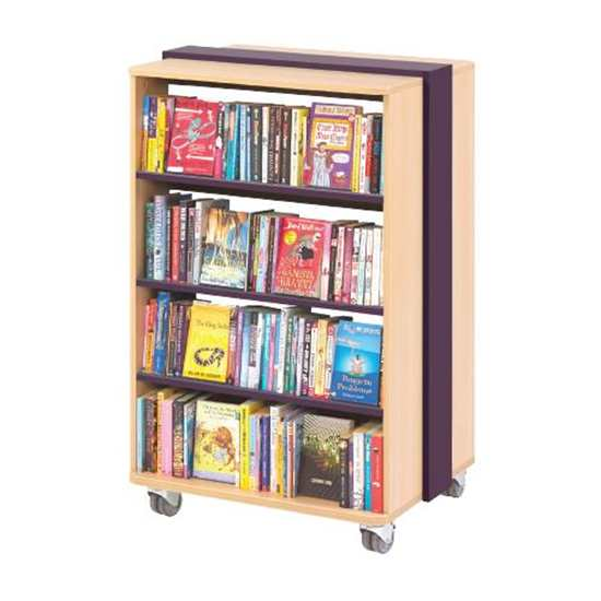 mobile straight bookcase1 - Mobile Straight Bookcase