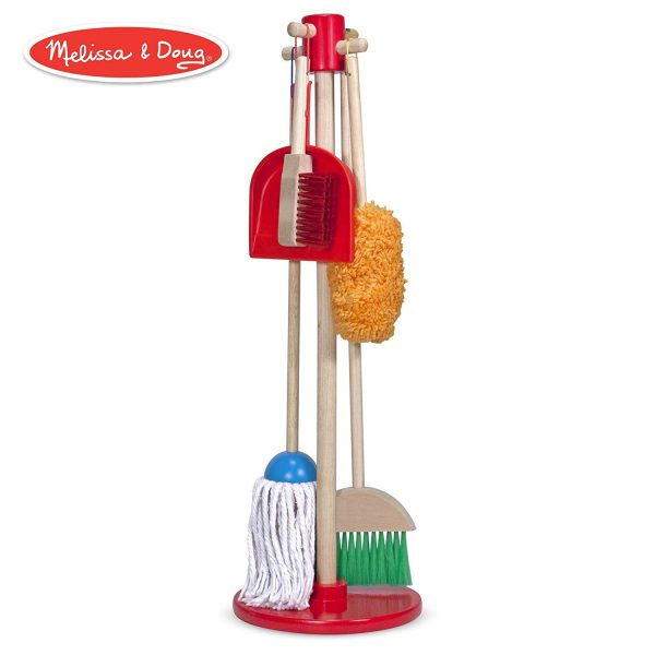 1 2 600x600 - Let's Play House! Dust! Sweep! Mop! Pretend Play Set (6-piece, Kid-Sized with Housekeeping Broom, Mop, Duster and Organizing Stand for Skill- and Confidence-Building)