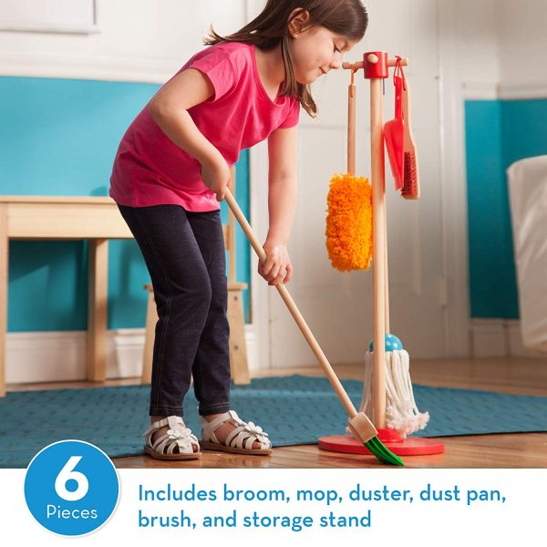2 4 600x600 - Let's Play House! Dust! Sweep! Mop! Pretend Play Set (6-piece, Kid-Sized with Housekeeping Broom, Mop, Duster and Organizing Stand for Skill- and Confidence-Building)