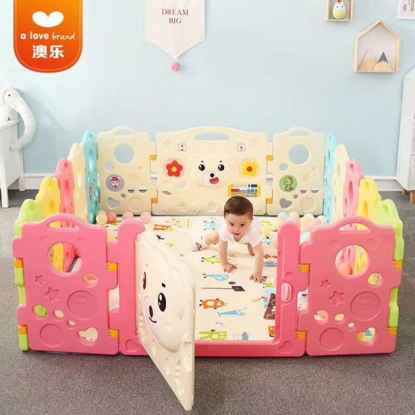 4 600x600 - Baby Playpens(Fence) in Candy Colours