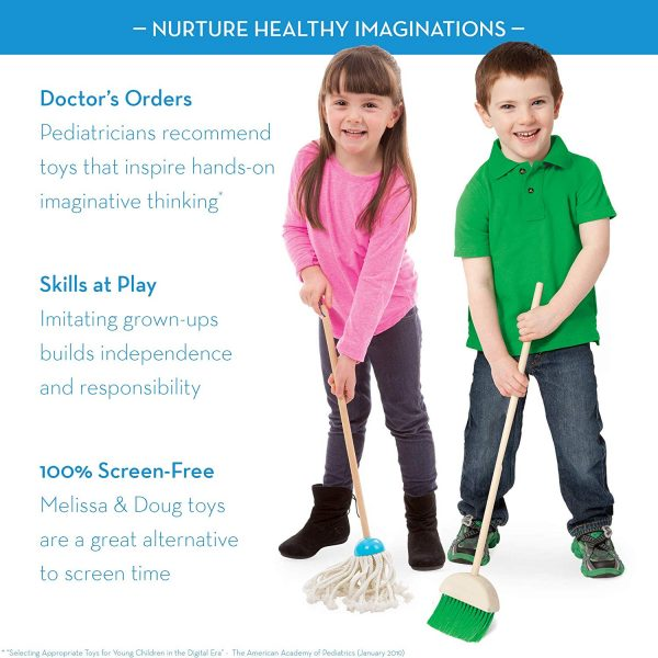 81GdGKnMtCL. SL1500  600x600 - Let's Play House! Dust! Sweep! Mop! Pretend Play Set (6-piece, Kid-Sized with Housekeeping Broom, Mop, Duster and Organizing Stand for Skill- and Confidence-Building)