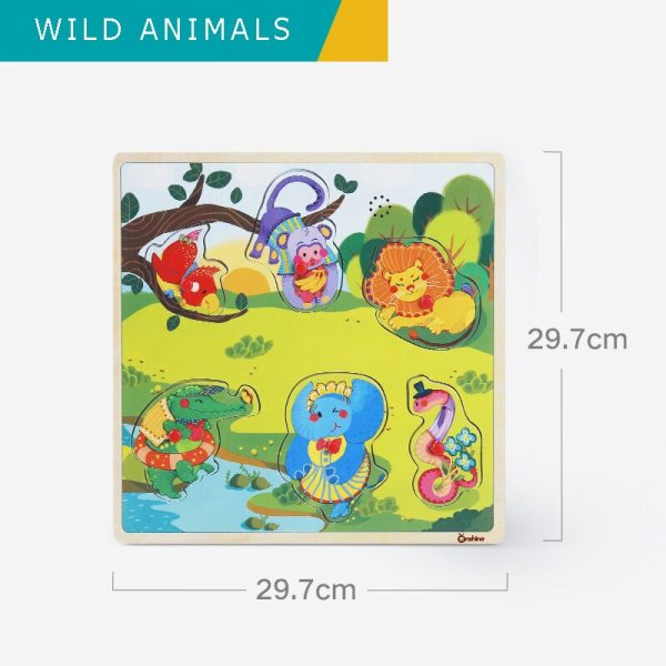 Onshine Children Sound Jigsaw cognitive animal traffic vehicles hand grasping puzzle sensation sound simulation toys baby 600x600 - Sound Puzzle Set of 3