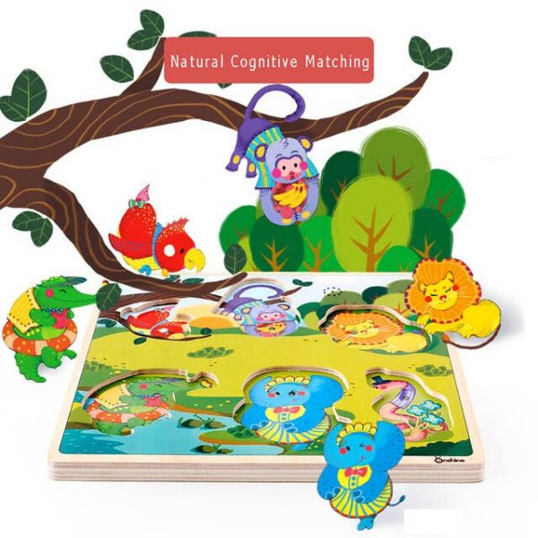 Onshine Children Sound Jigsaw cognitive animal traffic vehicles hand grasping puzzle sensation sound simulation toys baby.jpg 640x640q70 600x600 - Sound Puzzle Set of 3