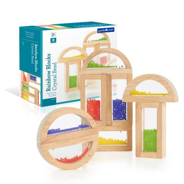 G3012CrystalBeadBlocks 600x600 - Rainbow Sensory Building Blocks